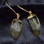 Goldplated silver earrings/w Stone